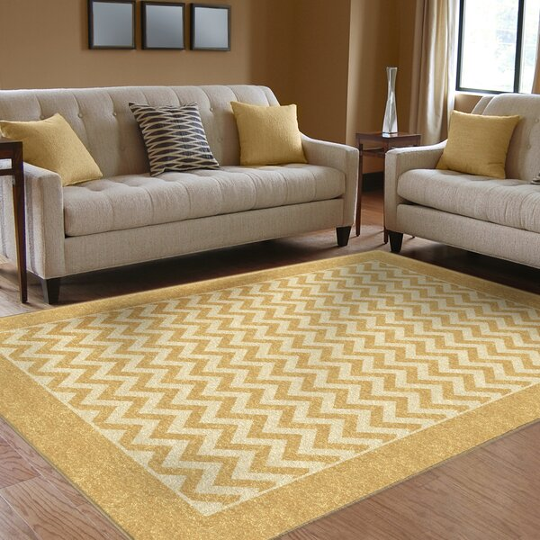 Rochester Yellow Indoor/Outdoor Area Rug by Threadbind
