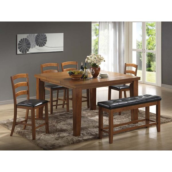 Gossett 5 Piece Solid Wood Dining Set by Red Barrel Studio