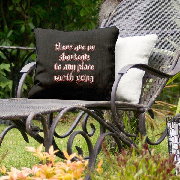 No Shortcuts Indoor/Outdoor Throw Pillow