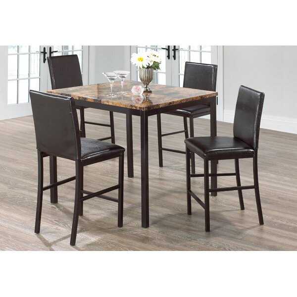 Kissner Marble 5 Piece Dining Set by Red Barrel Studio