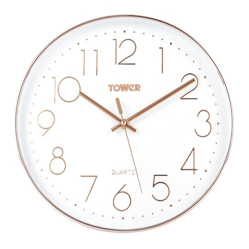 Wanduhr 30 cm Tower Farbe: Weiß | Dekoration > Uhren > Wanduhren | Tower