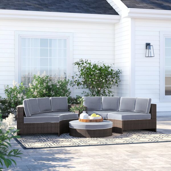 Bermuda 6 Piece Sectional Seating Group with Cushions by Sol 72 Outdoor