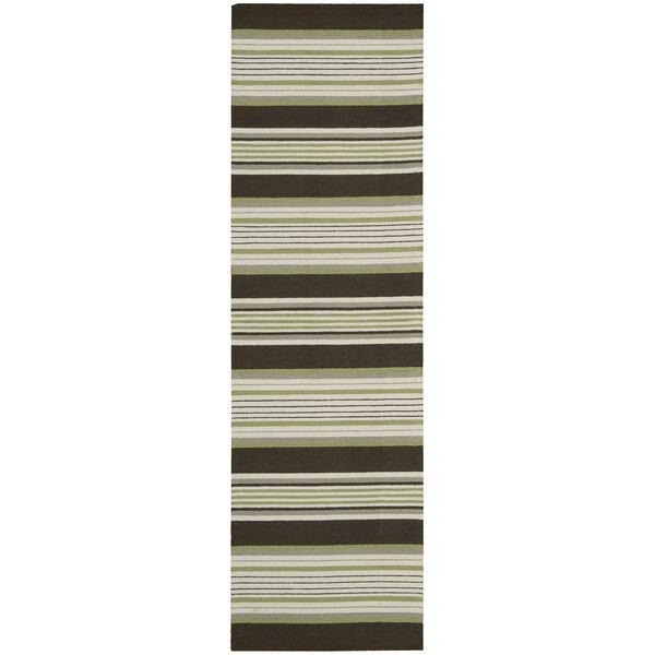 Biddeford Hand-Hooked Green Area Rug by Rosecliff Heights