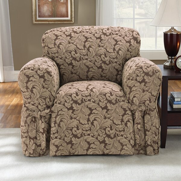 Scroll Classic Box Cushion Armchair Slipcover by S