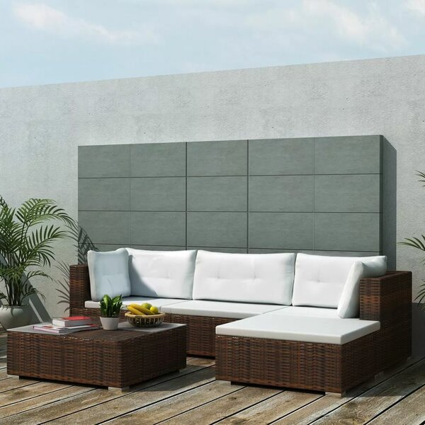 Royals Garden 5 Piece Rattan Sofa Seating Group with Cushions by Orren Ellis