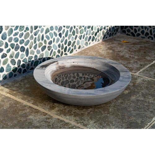 Akeem Rainbow Sandstone Birdbath Dakota Fields Colour: Grey