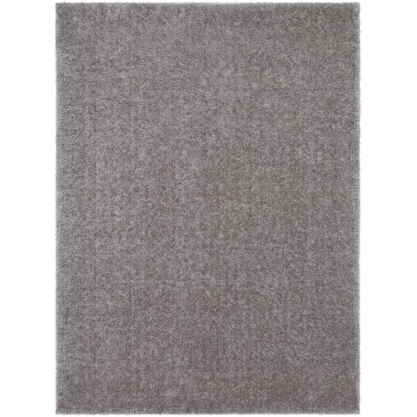 Carlos Shag Plush Taupe Area Rug by Wrought Studio