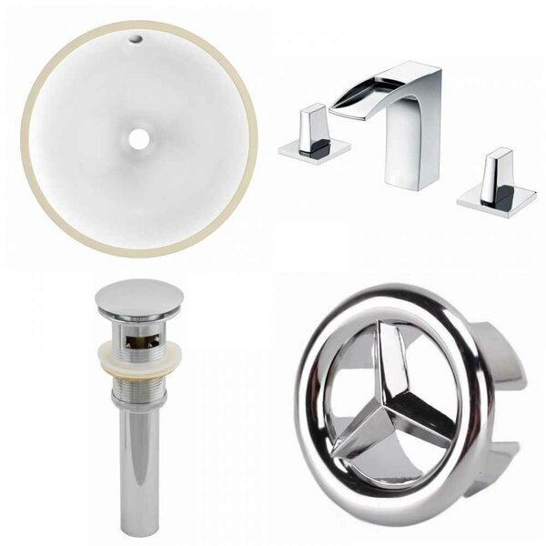 CUPC Ceramic Circular Undermount Bathroom Sink with Faucet and Overflow by American Imaginations