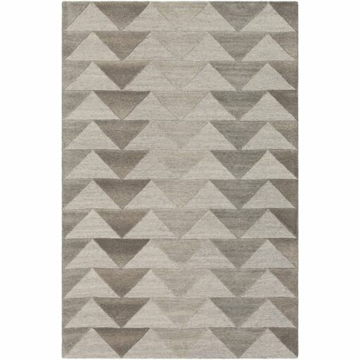 Beatrice Hand-Tufted Medium Gray/Light Gray Area Rug by Langley Street