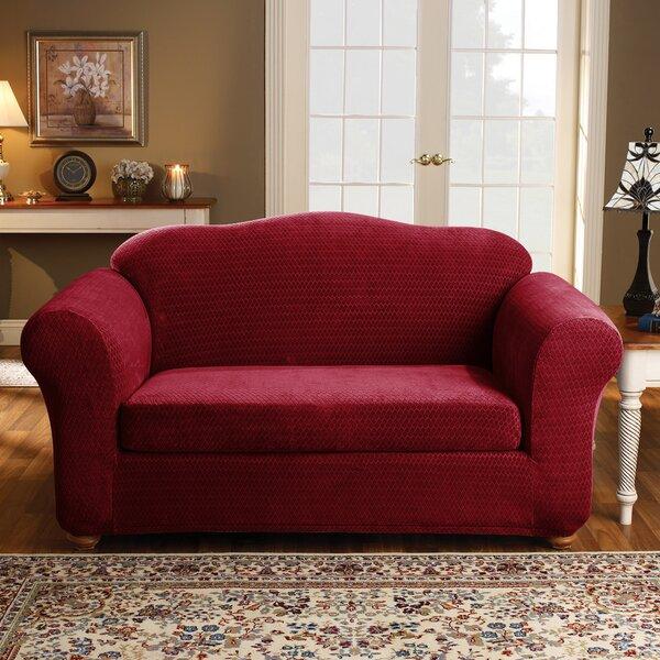 Royal Diamond Box Cushion Loveseat Slipcover By Sure Fit