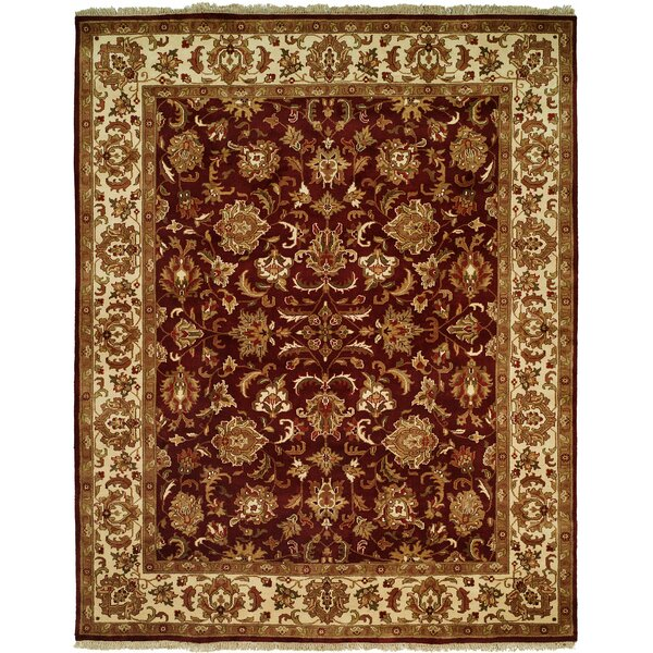 Barad Hand-Woven Burgundy Area Rug by Meridian Rugmakers