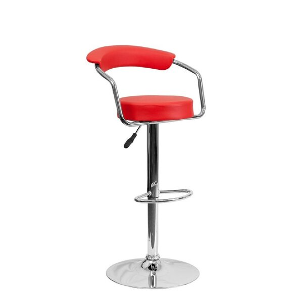 Gueye Swivel Adjustable Height Bar Stool (Set of 2) by Orren Ellis Orren Ellis