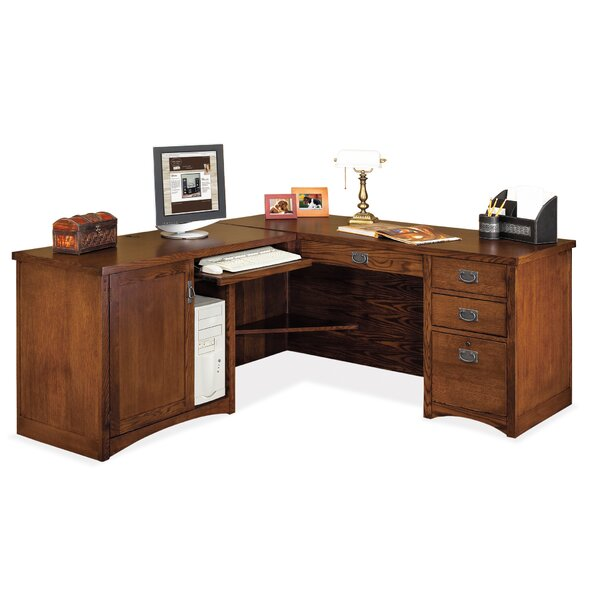 Mission Pasadena L-Shape Executive Desk by Martin Home Furnishings