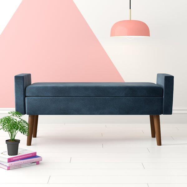 Mosier Upholstered Flip top Storage Bench