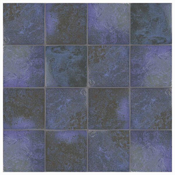 Luis 6 x 6 Porcelain Field Tile in Blue Laguna by EliteTile