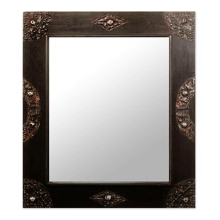 Novica Hand-Crafted Sese Wood and Brass Wall Mirror