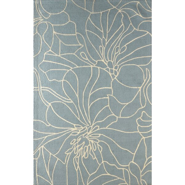 Gina Hand-Tufted Sky Blue/Ivory Area Rug by Latitude Run