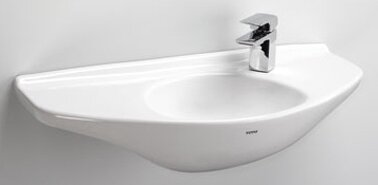 Vitreous China 30 Wall Mounted Bathroom Sink by Toto