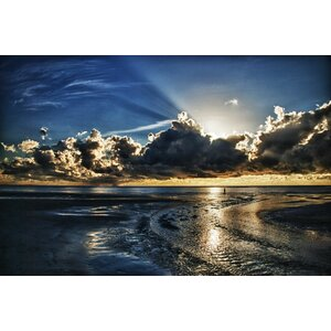 'Atlantic Sunrise' Framed Photographic Print on Wrapped Canvas by Ebern Designs