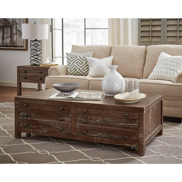 Meltham Wooden 4 Drawer Coffee Table With Storage