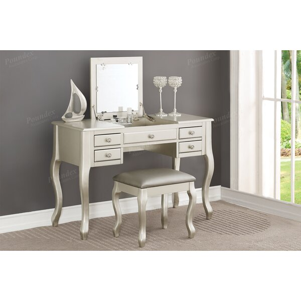 Jaxton Vanity Set with Mirror by Darby Home Co