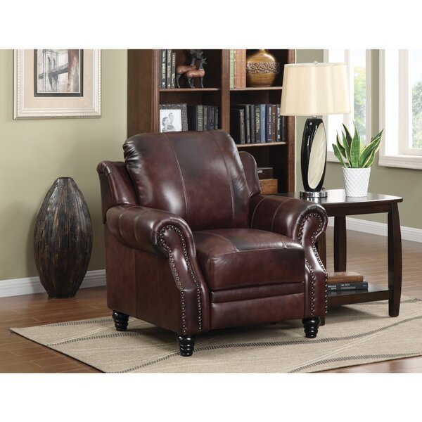 Wickersham Push Back Leather Manual Recliner by Canora Grey
