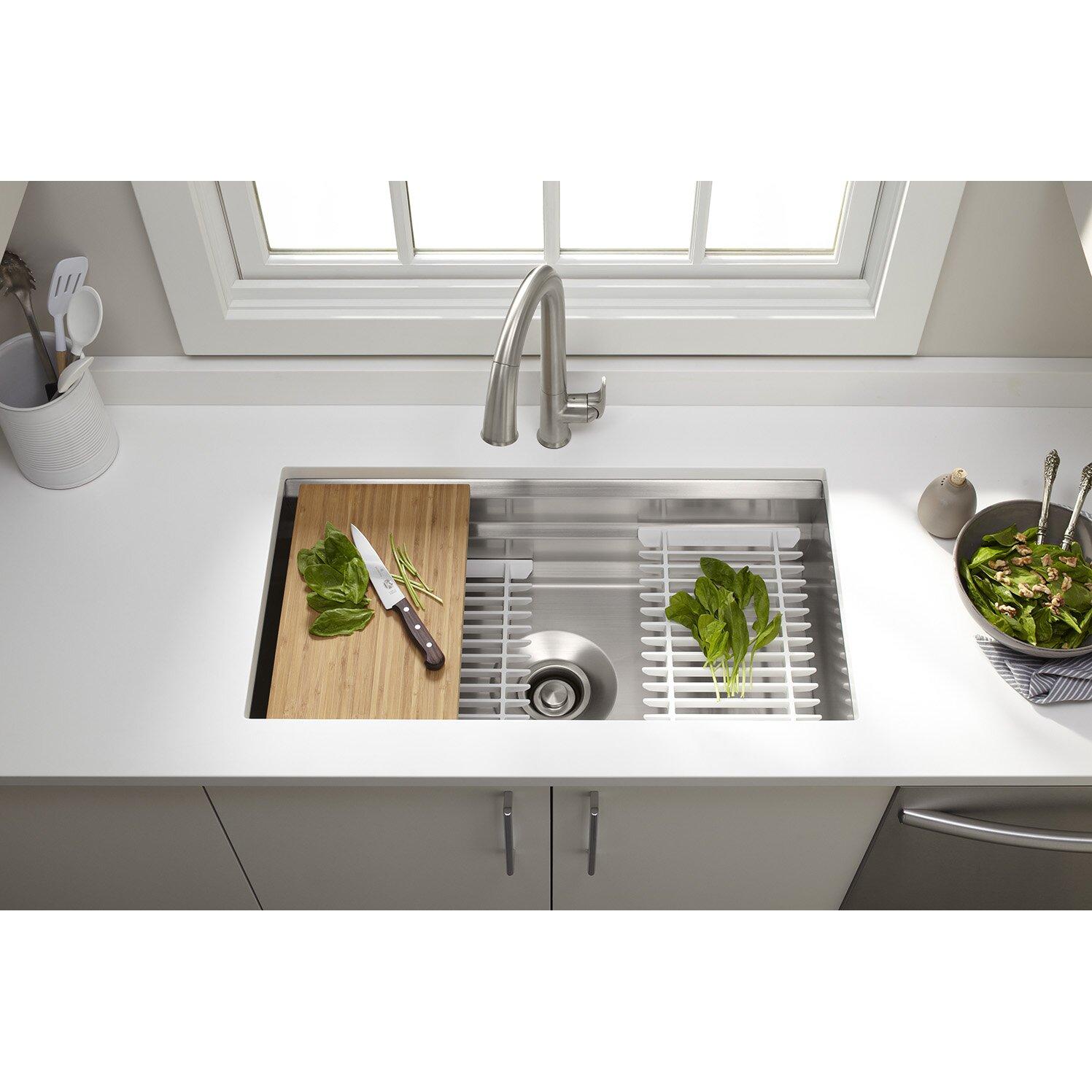 Prolific 33 x 17 3 4 x 11 undermount single bowl for Kitchen set 4 x 3
