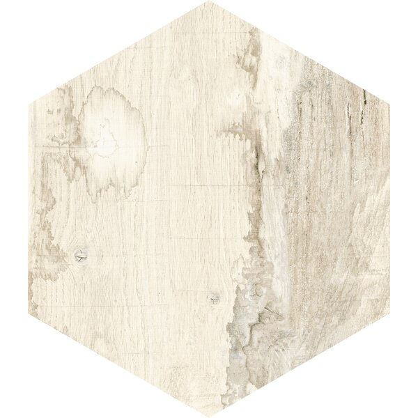 Docklight Hexagon 9.5 x 11 Porcelain Wood Tile in Sunset by Parvatile