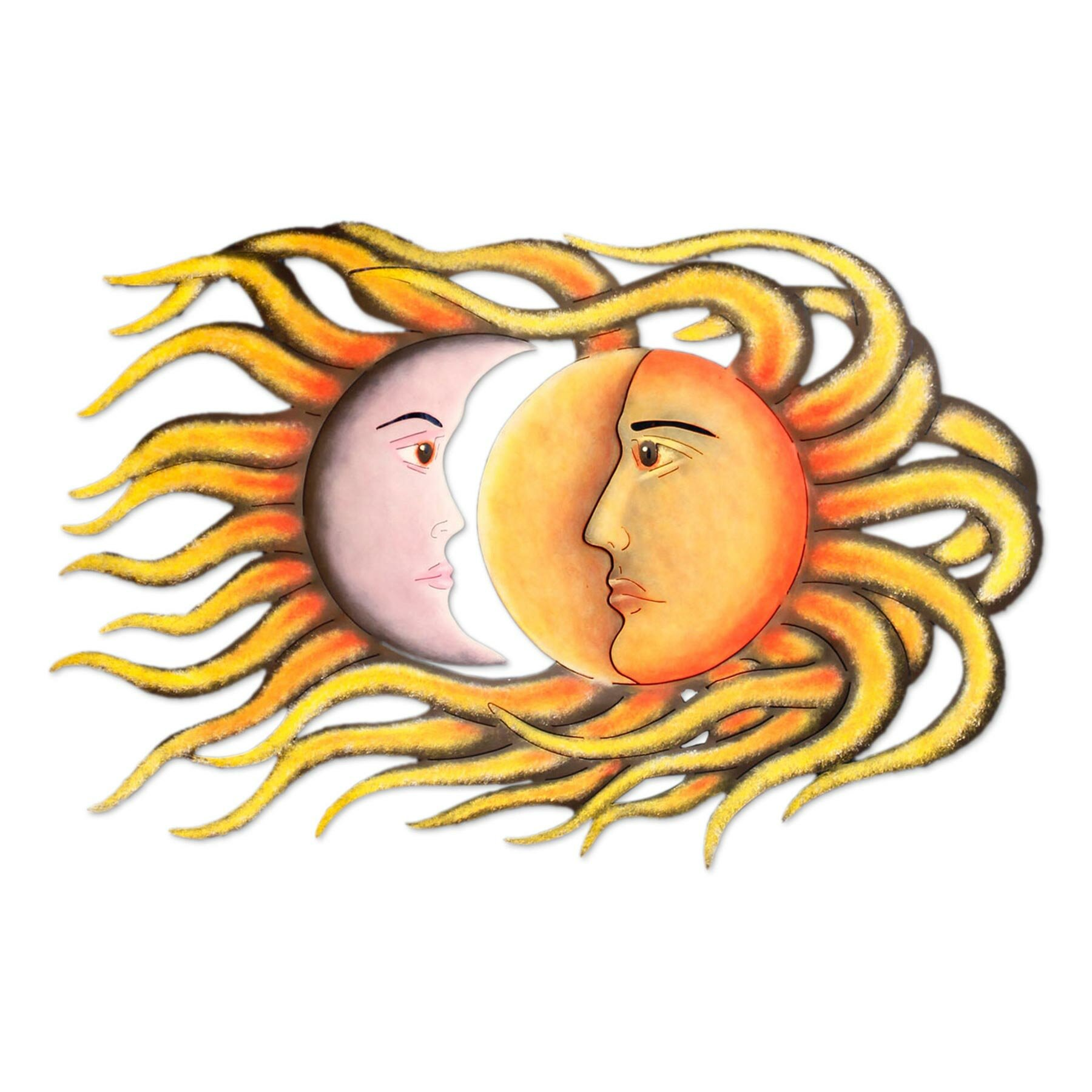 Novica Sun And Moon Eclipse Steel Art Wall Décor | Wayfair