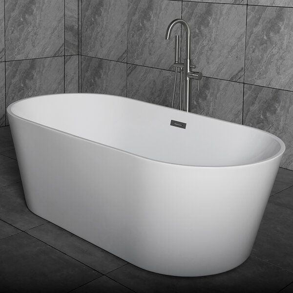 59 x 29.5 Freestanding Soaking Bathtub by WoodBrid