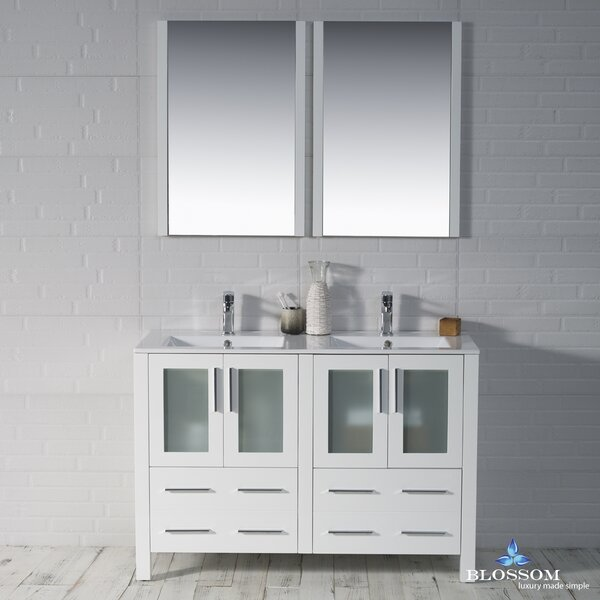 Mance 47 Double Bathroom Vanity Set with Mirror by Orren Ellis