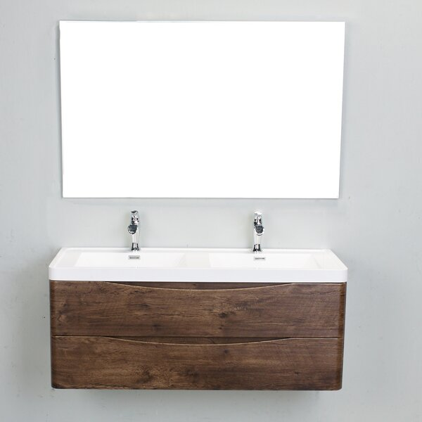 Blondene Modern 48 Double Bathroom Vanity Set by Trent Austin Design