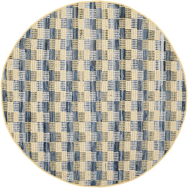 Alberta Hand-Woven Gold Area Rug by Highland Dunes