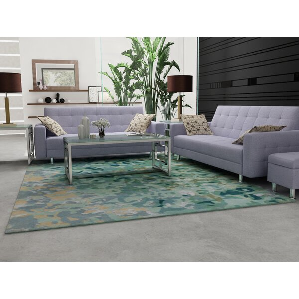 Ayanna Sea Foam / Teal Area Rug by Orren Ellis