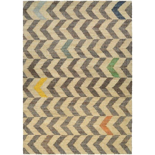 Lopp Hand Woven Linen/Cocoa Area Rug by Brayden Studio
