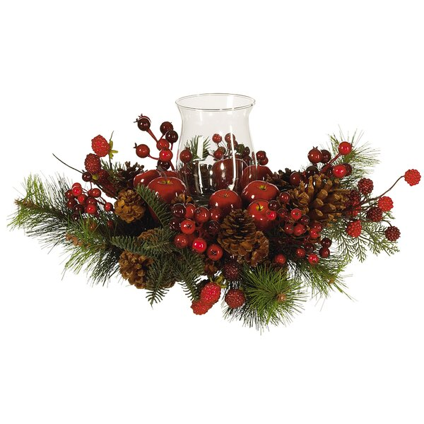 Holiday Hurricane Centerpiece by Laurel Foundry Modern Farmhouse
