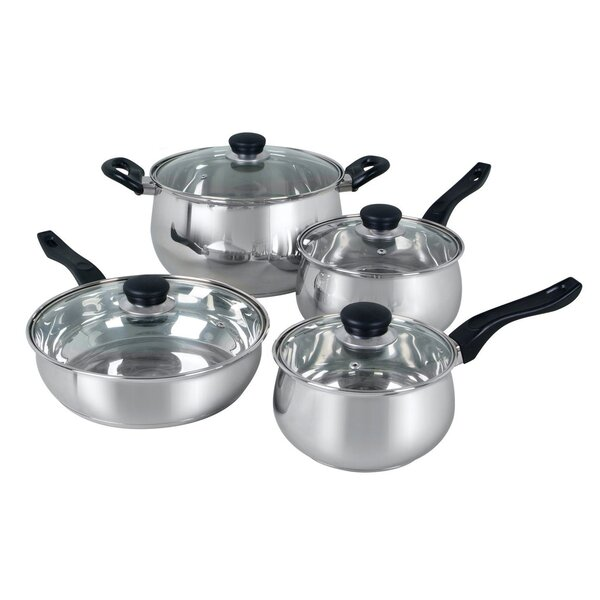Rametto 4 Piece Stainless Steel Cookware Set by Oster