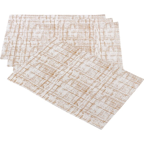 Casanovia Crosshatch Design Placemat (Set of 4) by House of Hampton