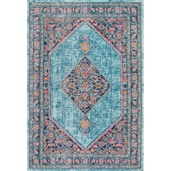 Babita Blue/Pink Area Rug by Bungalow Rose