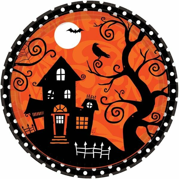 Halloween Paper Dinner Plate (Set of 54) by Amscan