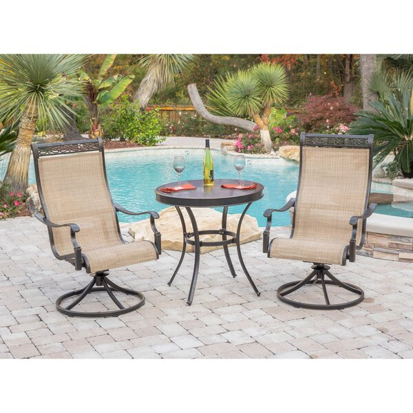 Bucci 3 Piece Bistro Set by Fleur De Lis Living
