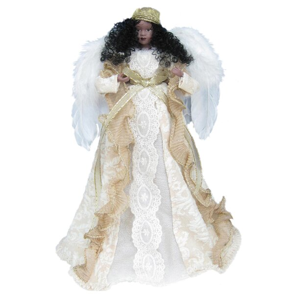 14 African American Angel Tree Topper by The Holiday Aisle