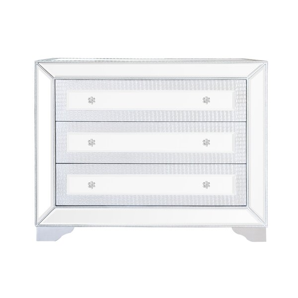 Quill Mirrored 3 Drawer Cabinet by House of Hampton