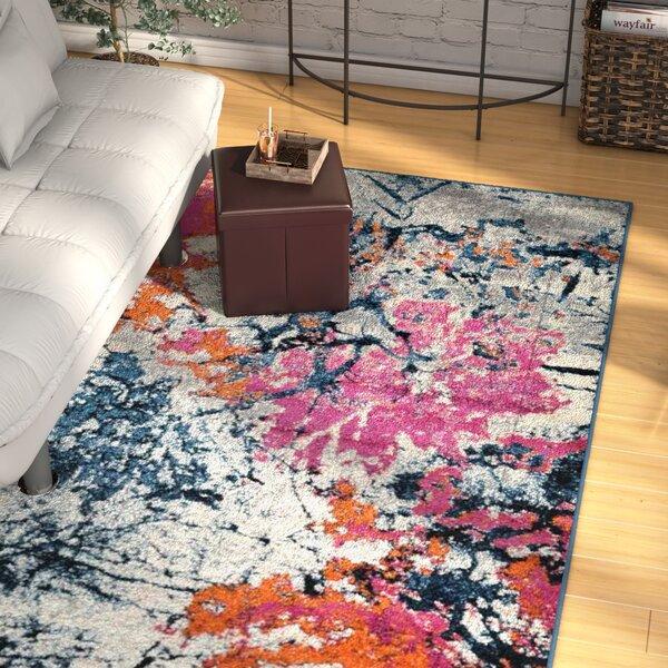 Chunn Orange/Blue Area Rug by Wrought Studio