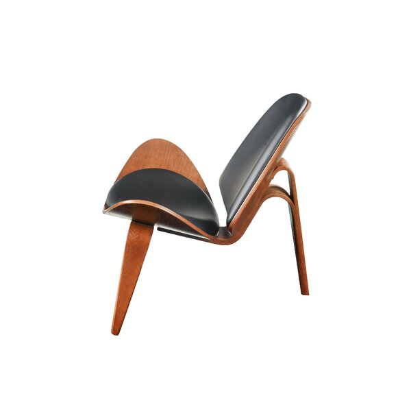 Borel Faux Leather Upholstered Wooden Side Chair by Corrigan Studio