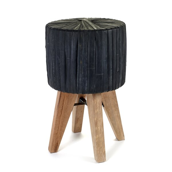 Claar Rubber Accent Stool by Bungalow Rose