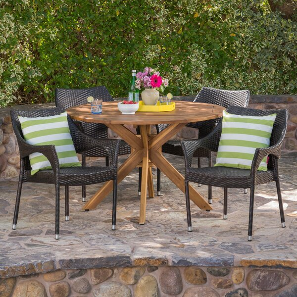 Stenger 5 Piece Dining Set by Wrought Studio