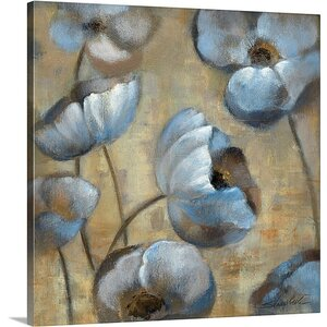 'Flowers in Dusk I' by Silvia Vassileva Painting Print on Canvas by Canvas On Demand