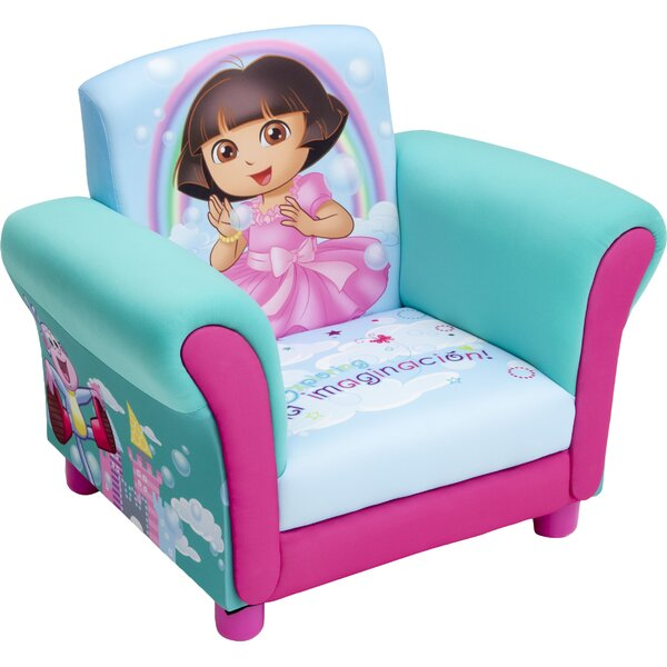 Dora Kids Upholstered Club Chair by Delta Children
