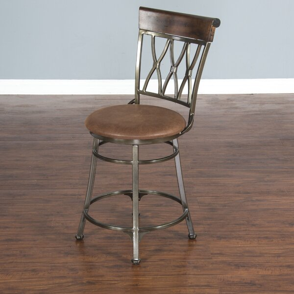 Manning 24 Swivel Bar Stool by Red Barrel Studio